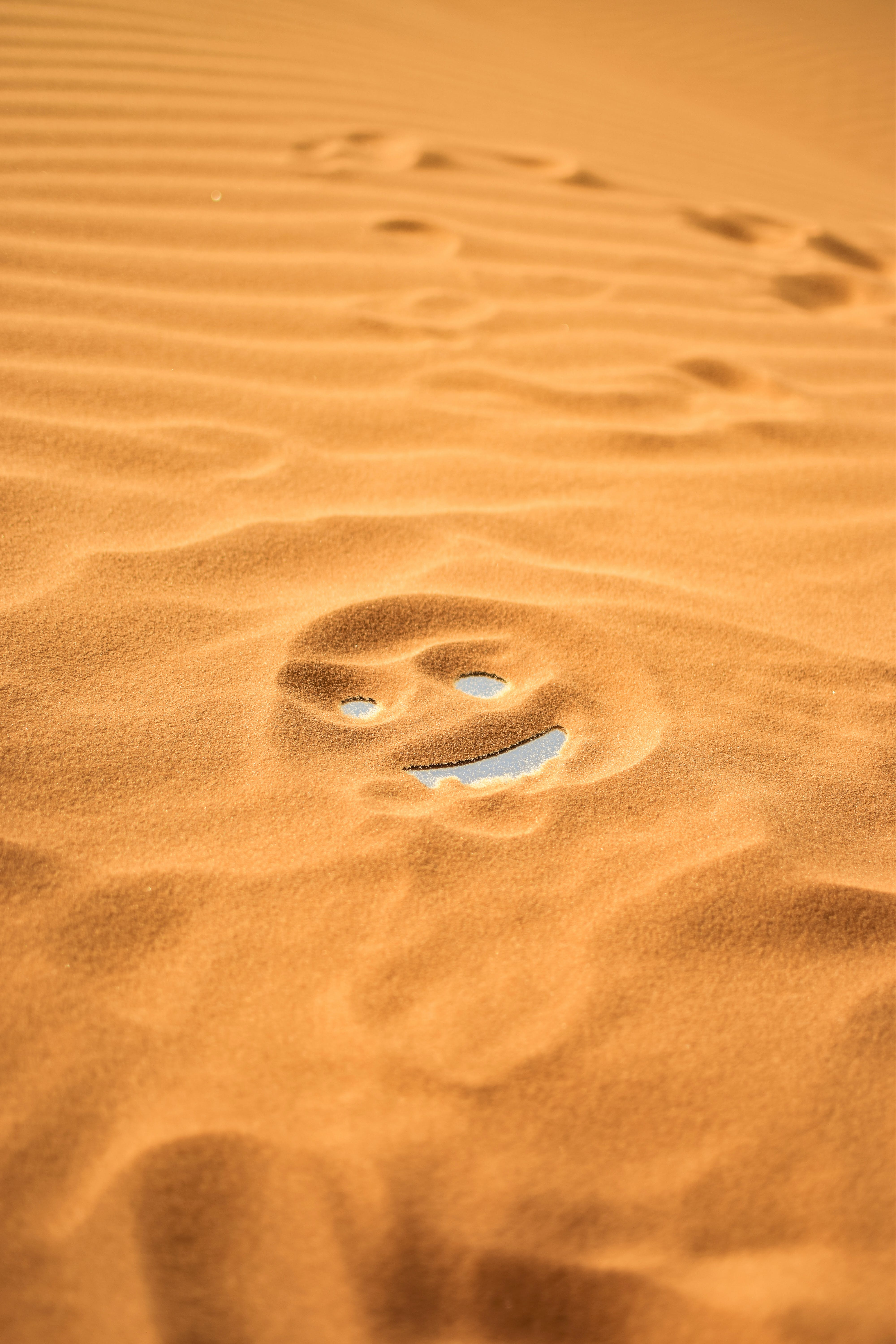 Smiley Face On Sand