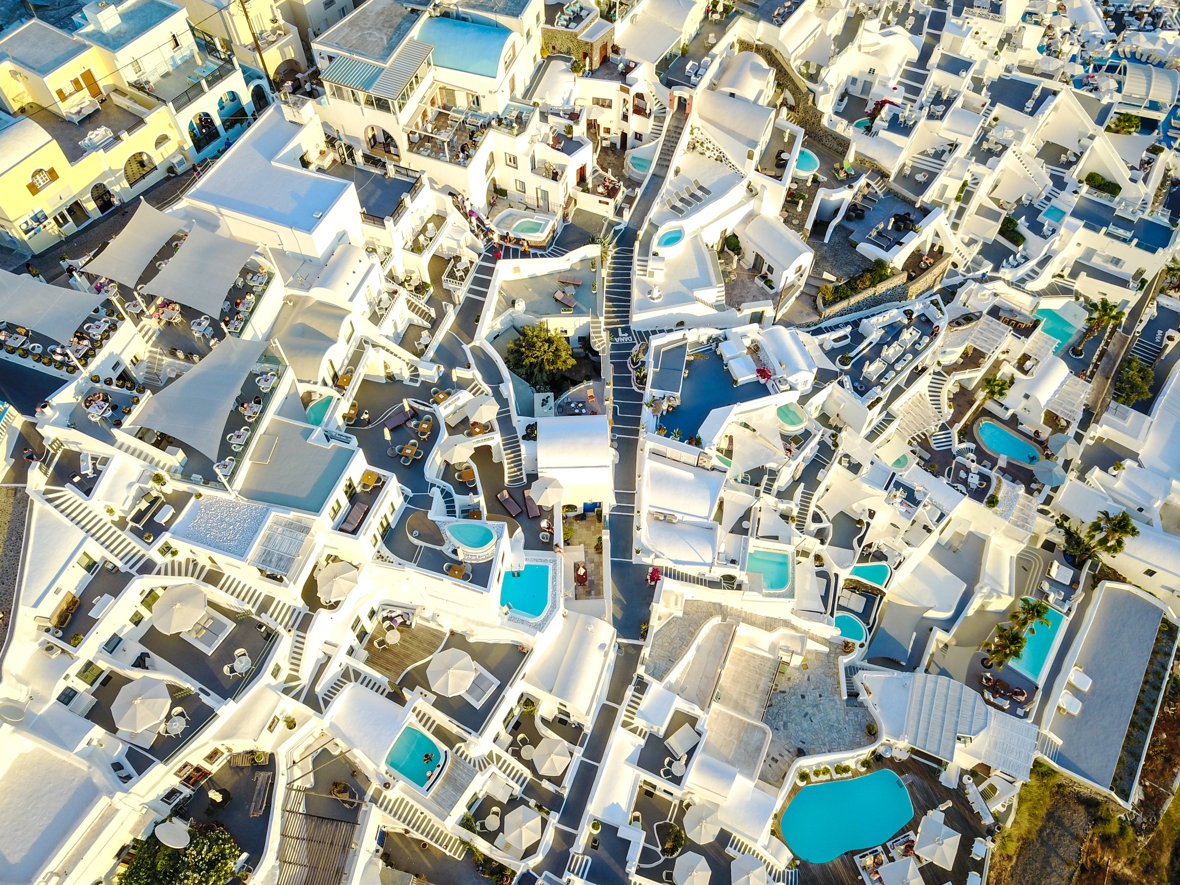 Aerial Photography of City Buildings With Swimming Pools