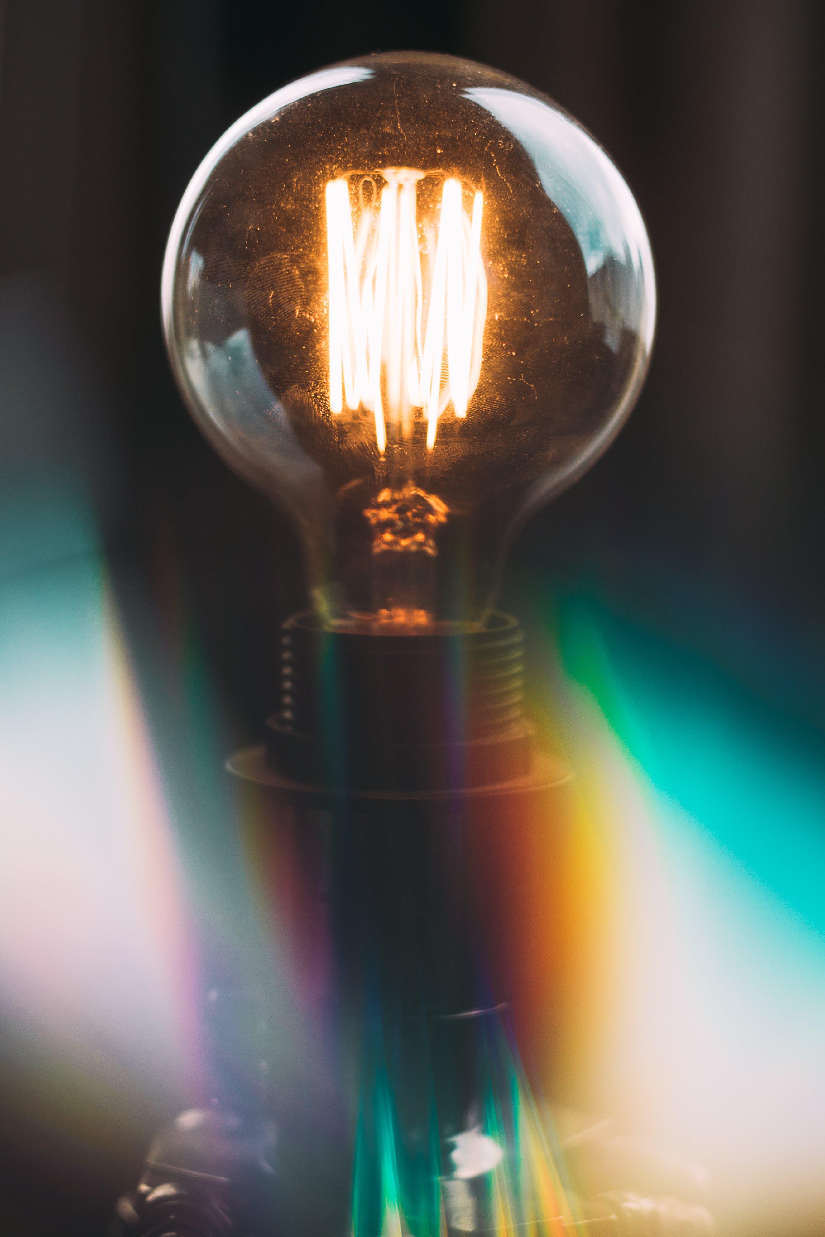 de bombilla, electricidad, iluminado, ligero