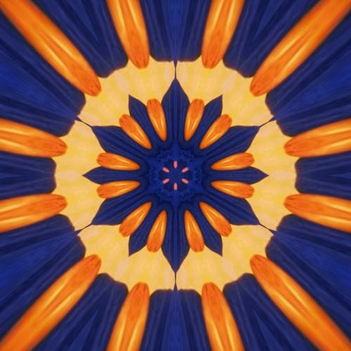 Blue and Orange modern art