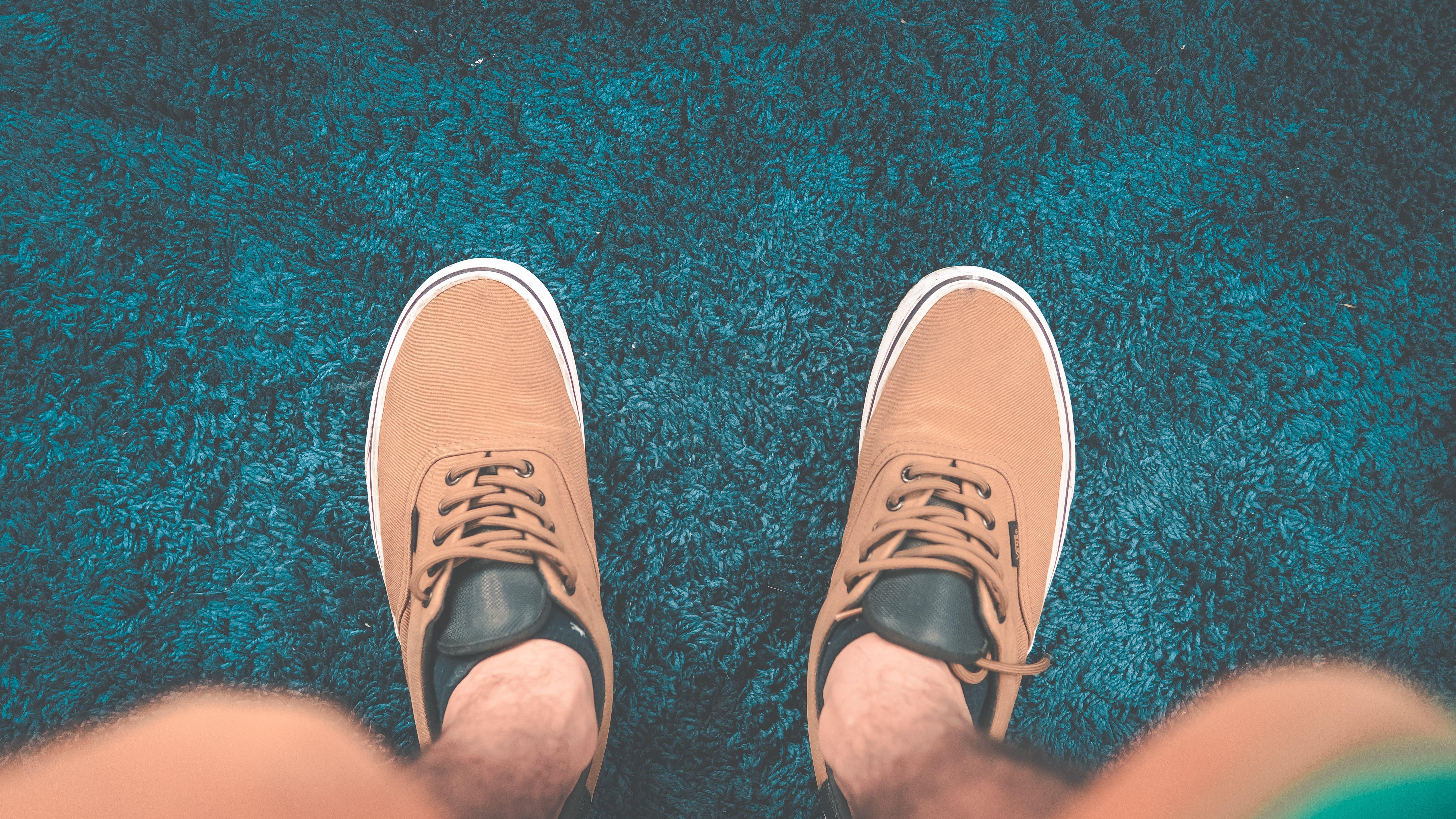 Gratis lagerfoto af blå tæppe, sko, tæppe, vans