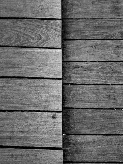 Foto profissional grátis de de madeira, estrutura, madeira, P&B