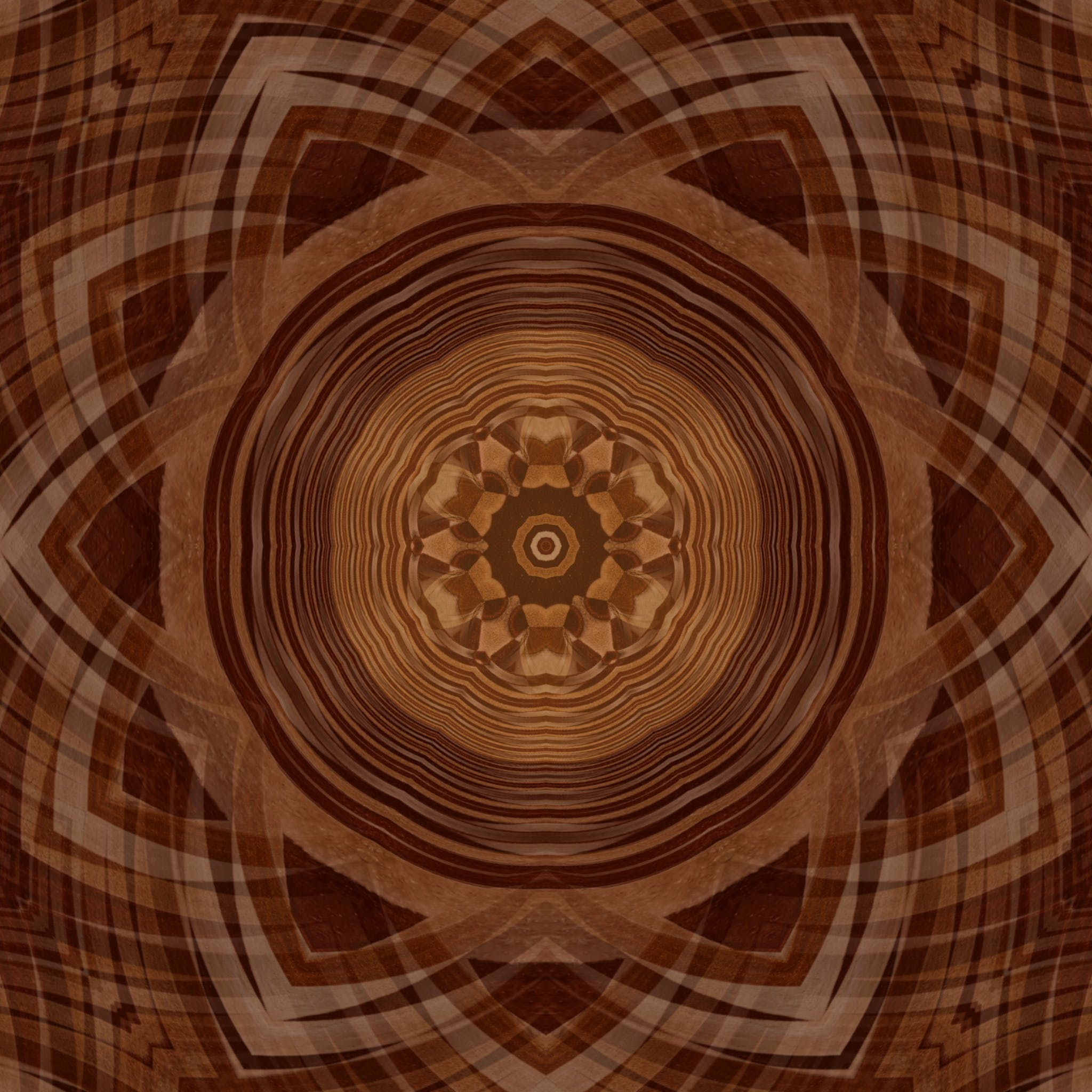 Artistic Design With Brown Color