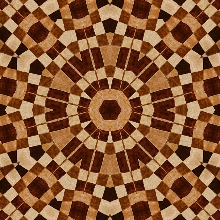 Round Brown, Black, and White Wallpaper