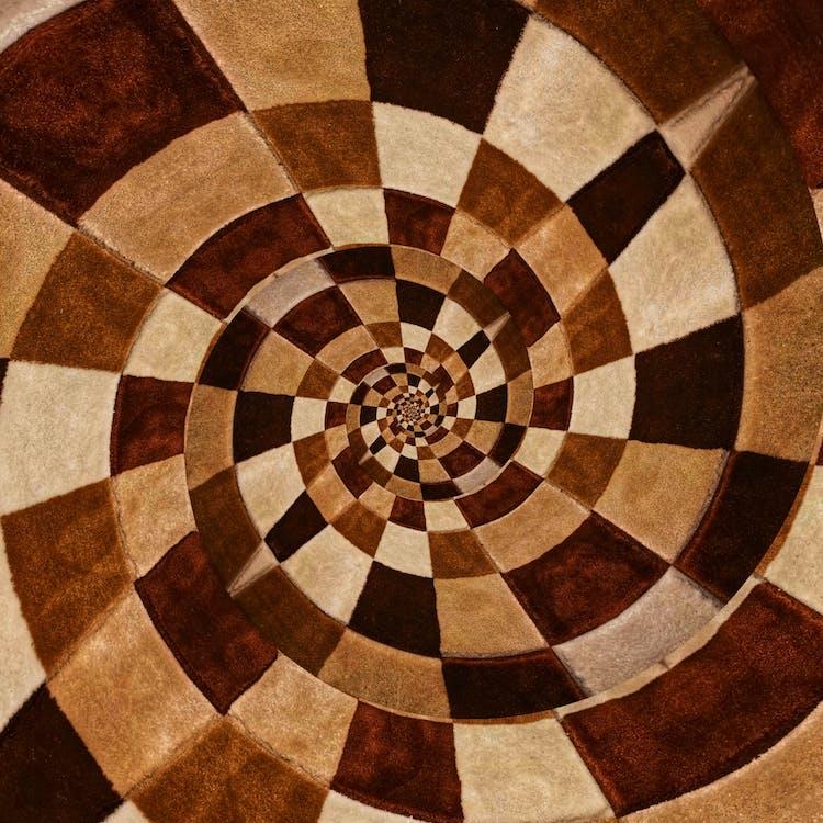 abstrakt målning, brun, design