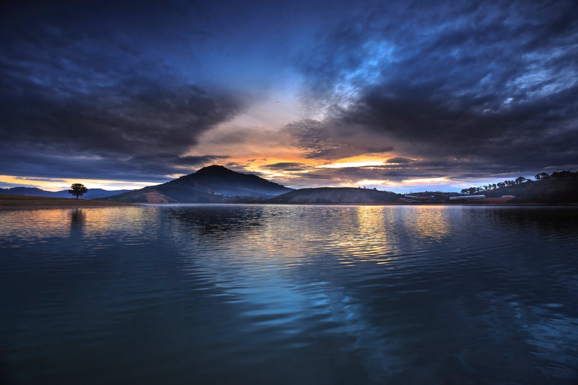 agua, al aire libre, amanecer