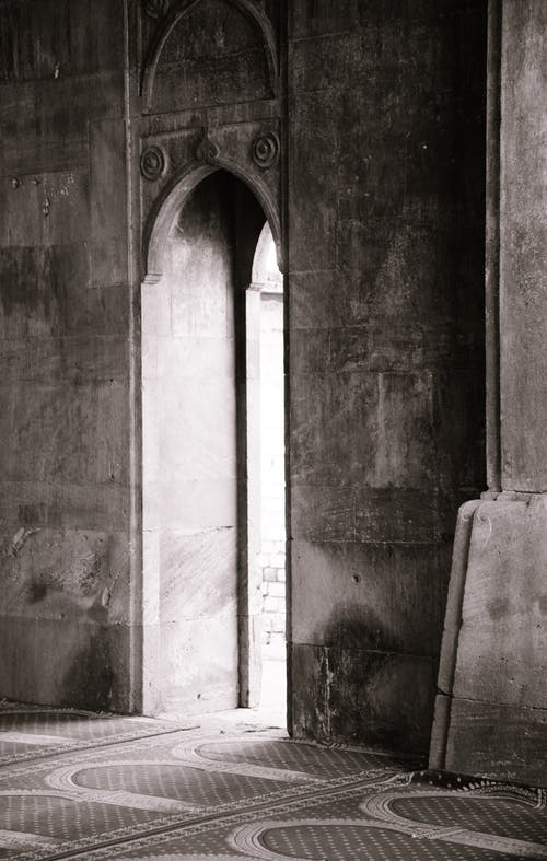 Free stock photo of architecture, black and white, door, gateway