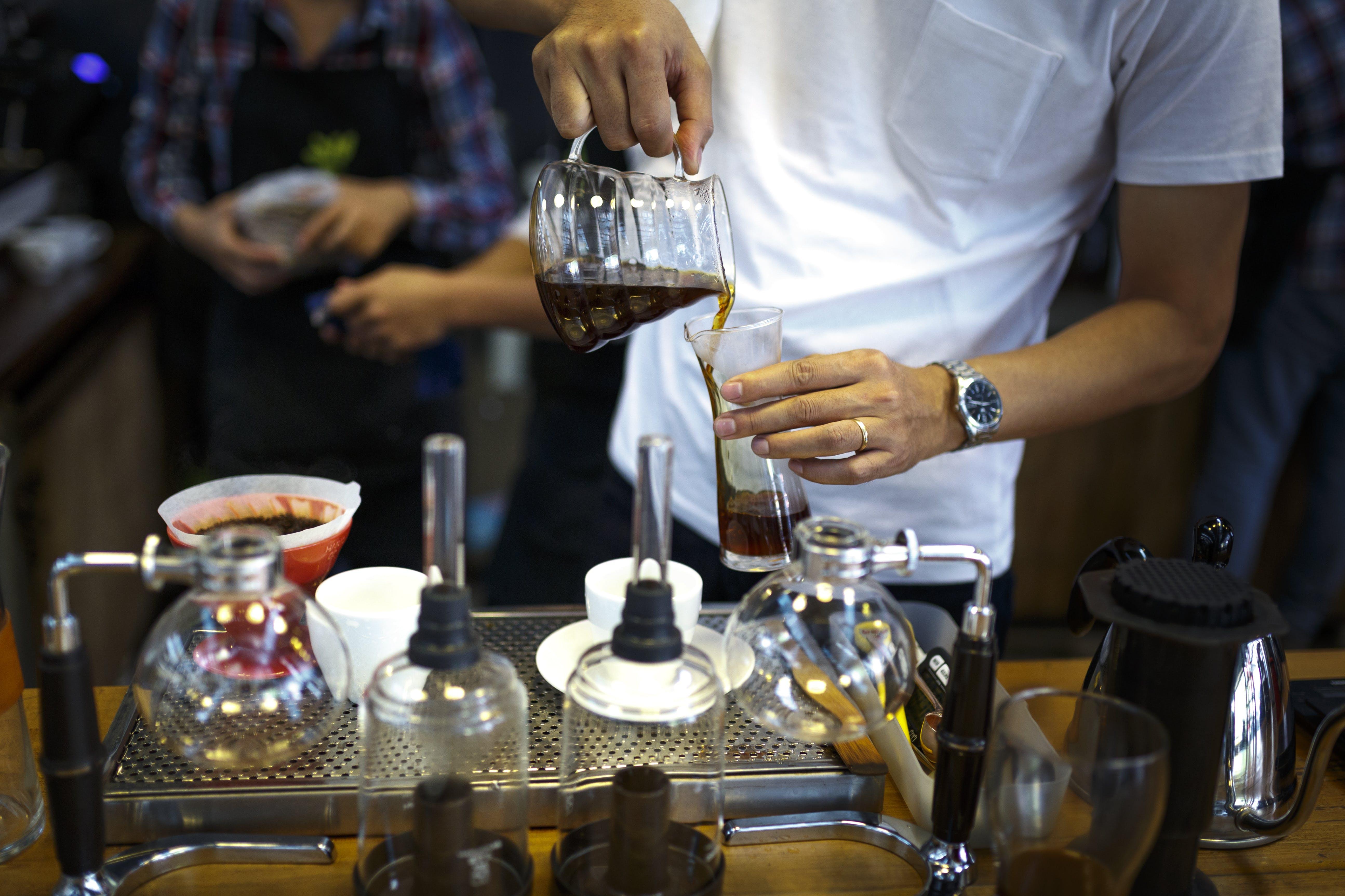 一杯咖啡, 人, 傾注, 可口的 的 免費圖庫相片