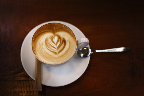 Gratis stockfoto met cafeïne, cappuccino, close-up, designen
