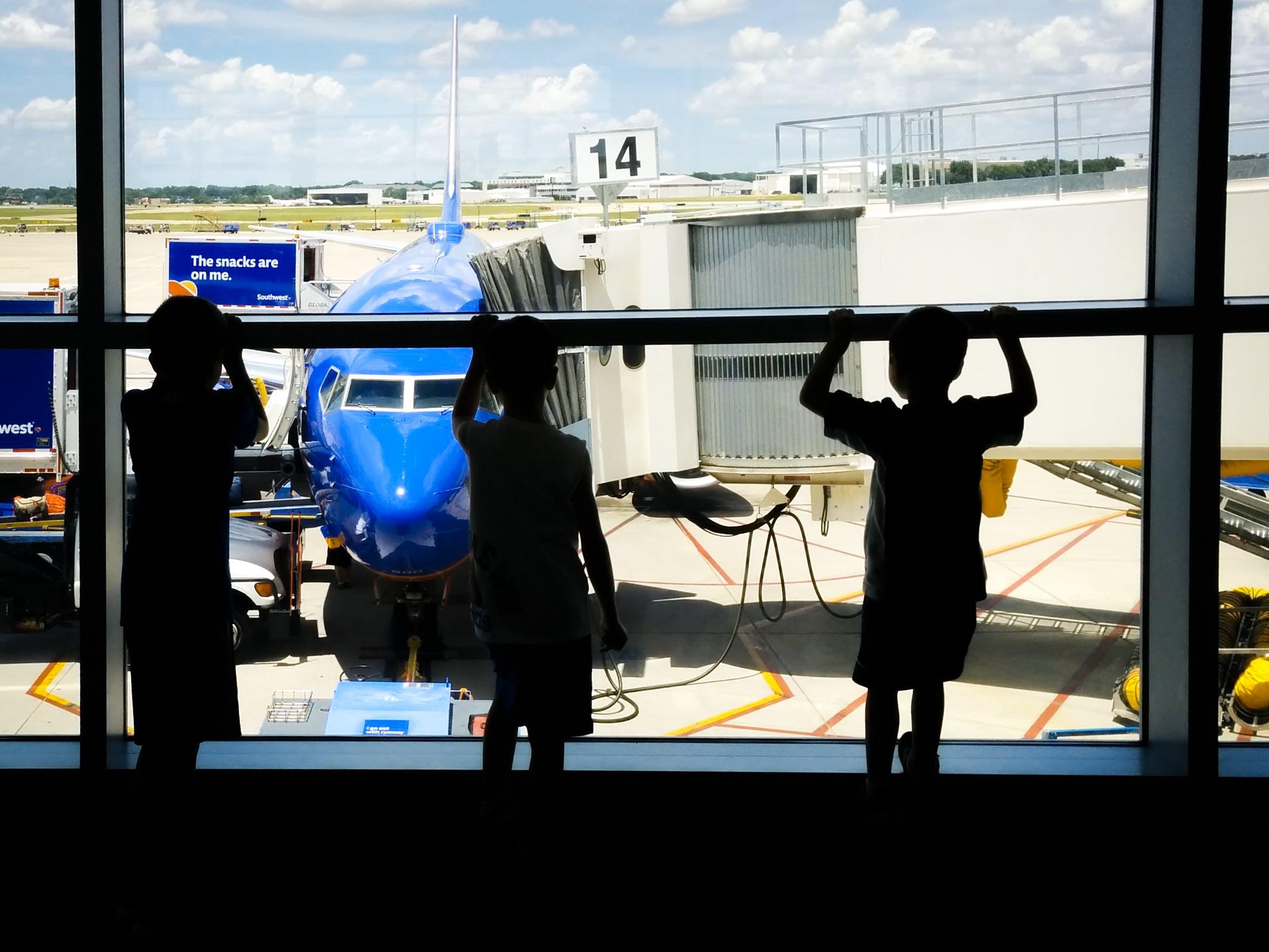 Základová fotografie zdarma na téma letiště, silhou