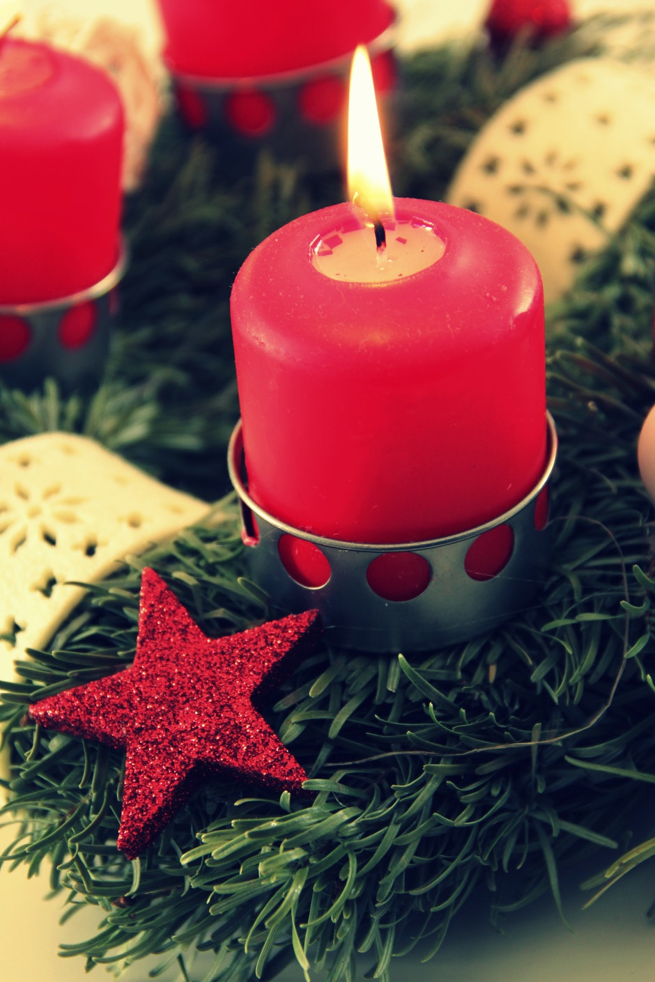 advent, candle, candlelight