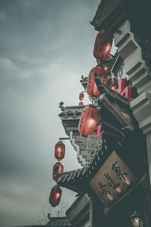 掛, 紙燈籠, 街, 街道 的 免費圖庫相片