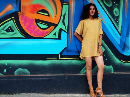 Darmowe zdjęcie z galerii z #dama, #dziewczynka, #grafity, #miejski