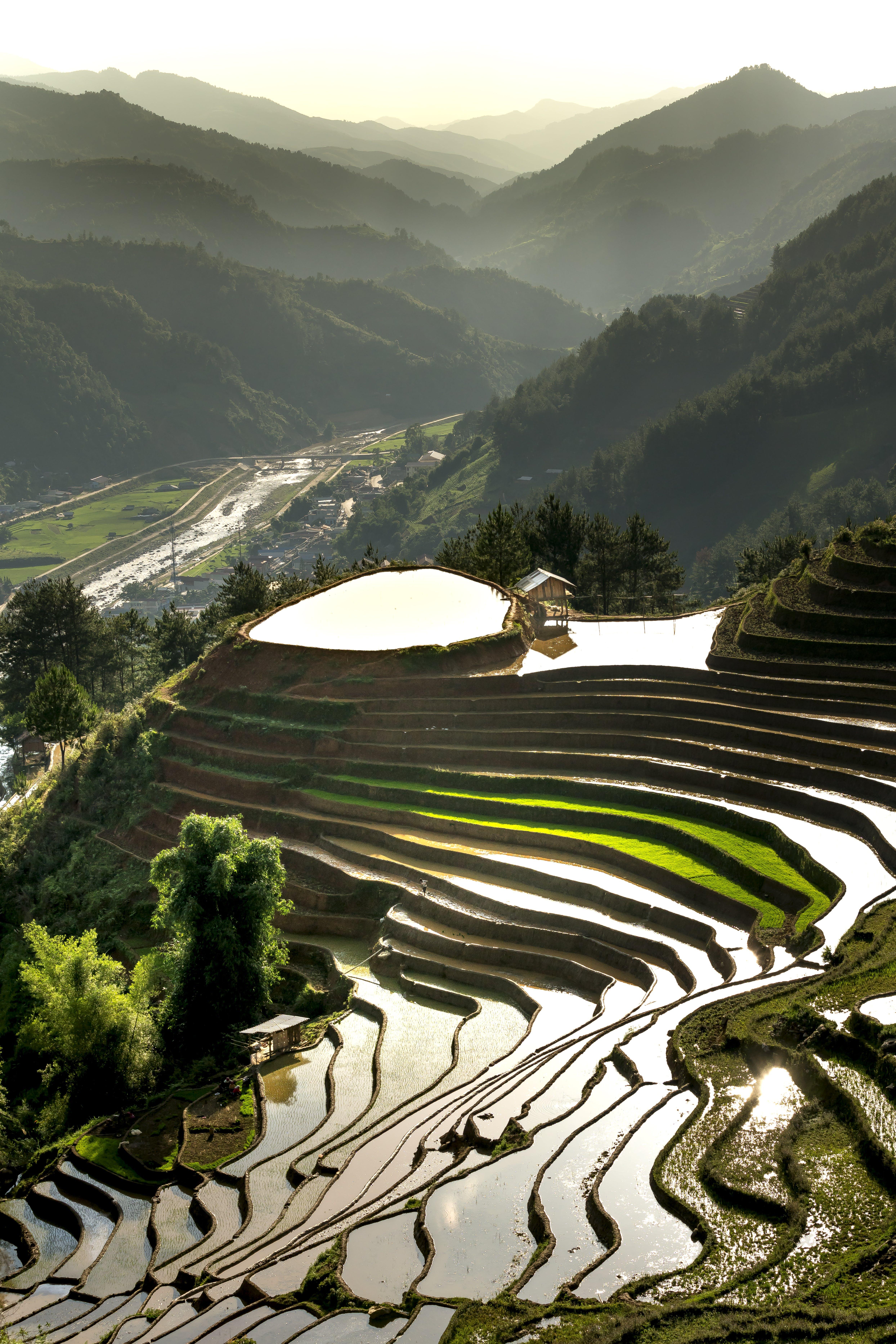 Gratis stockfoto met akkerland, berg, boerderij, boerenbedrijf