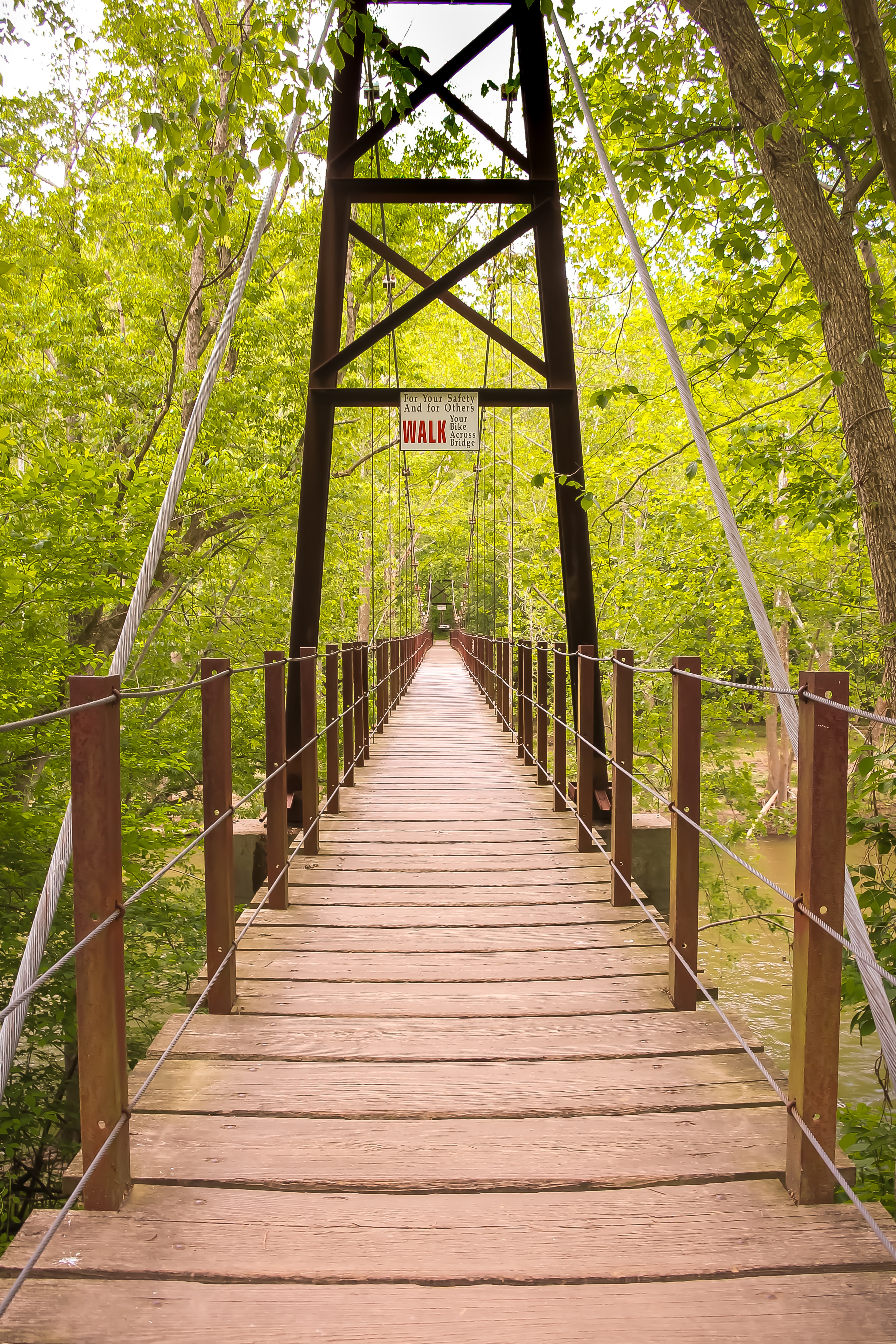 Pink And Brown Wooden Bridge 183 Free Stock Photo