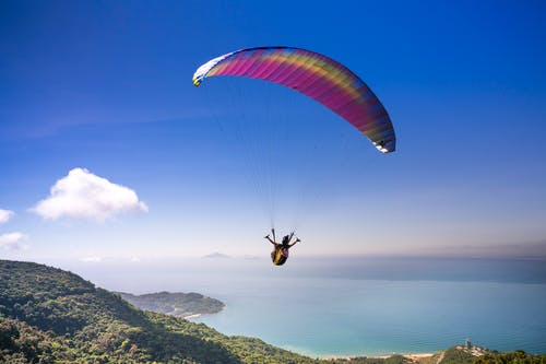 Person Paragliding
