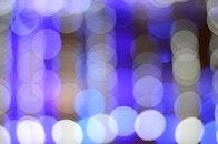 lights, blue, bokeh