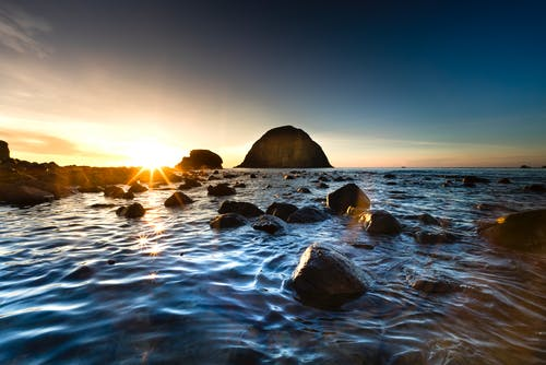 Photo of Rocky Shore During Dawn