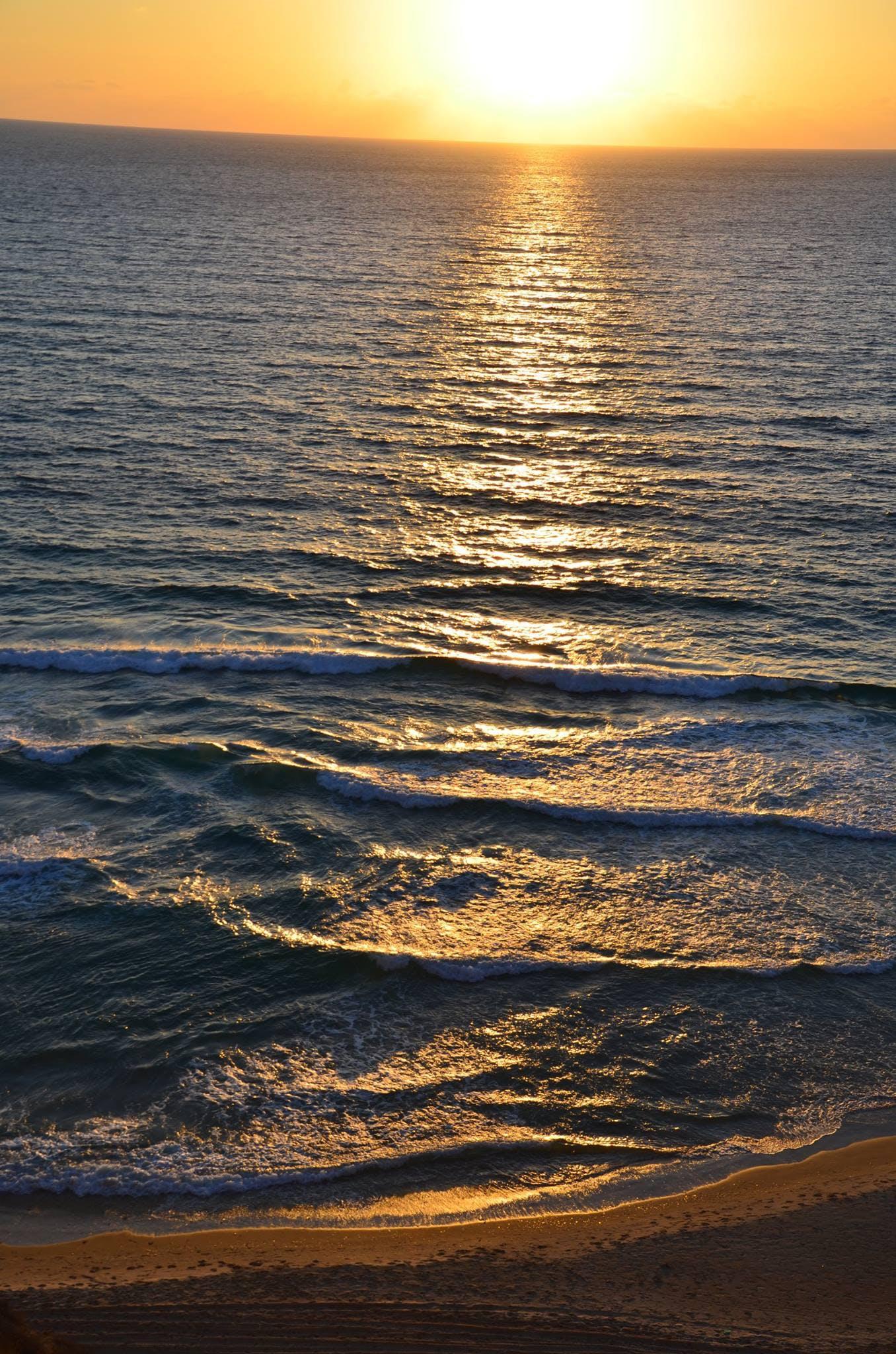 Free stock photo of beach, sea, sunset, waterfront