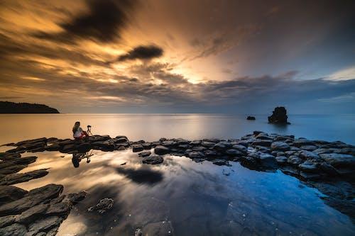 Základová fotografie zdarma na téma moře, obloha, oceán, pláž