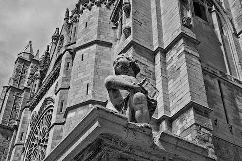 Gratis arkivbilde med katedral, statue