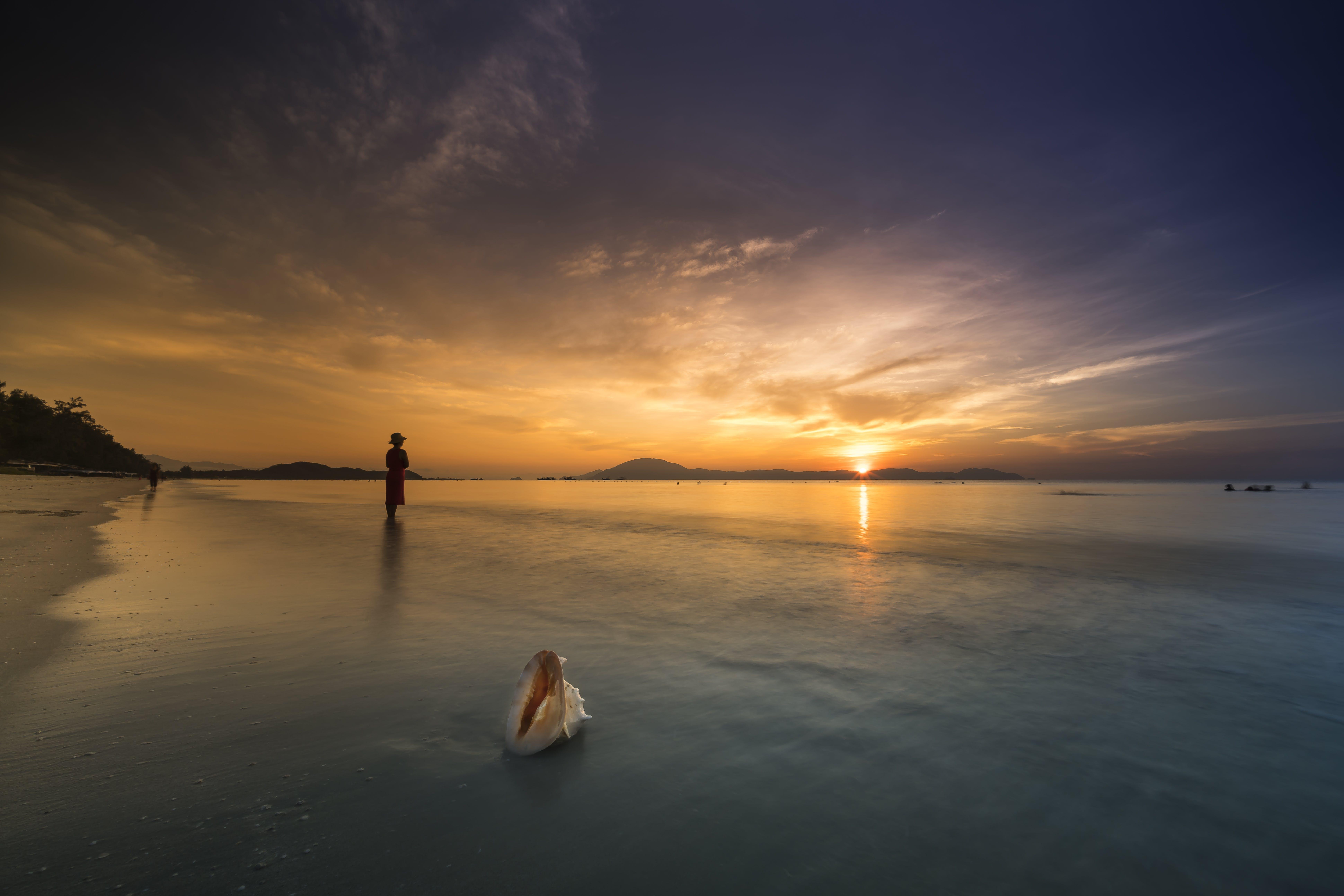Ingyenes stockfotó alkonyat, egyedül, hajnal, homok témában