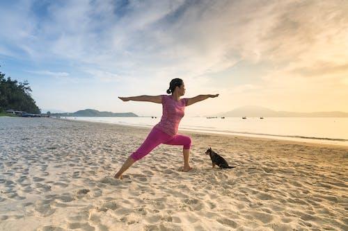 Безкоштовне стокове фото на тему «берег, берег моря, дозвілля, йога»