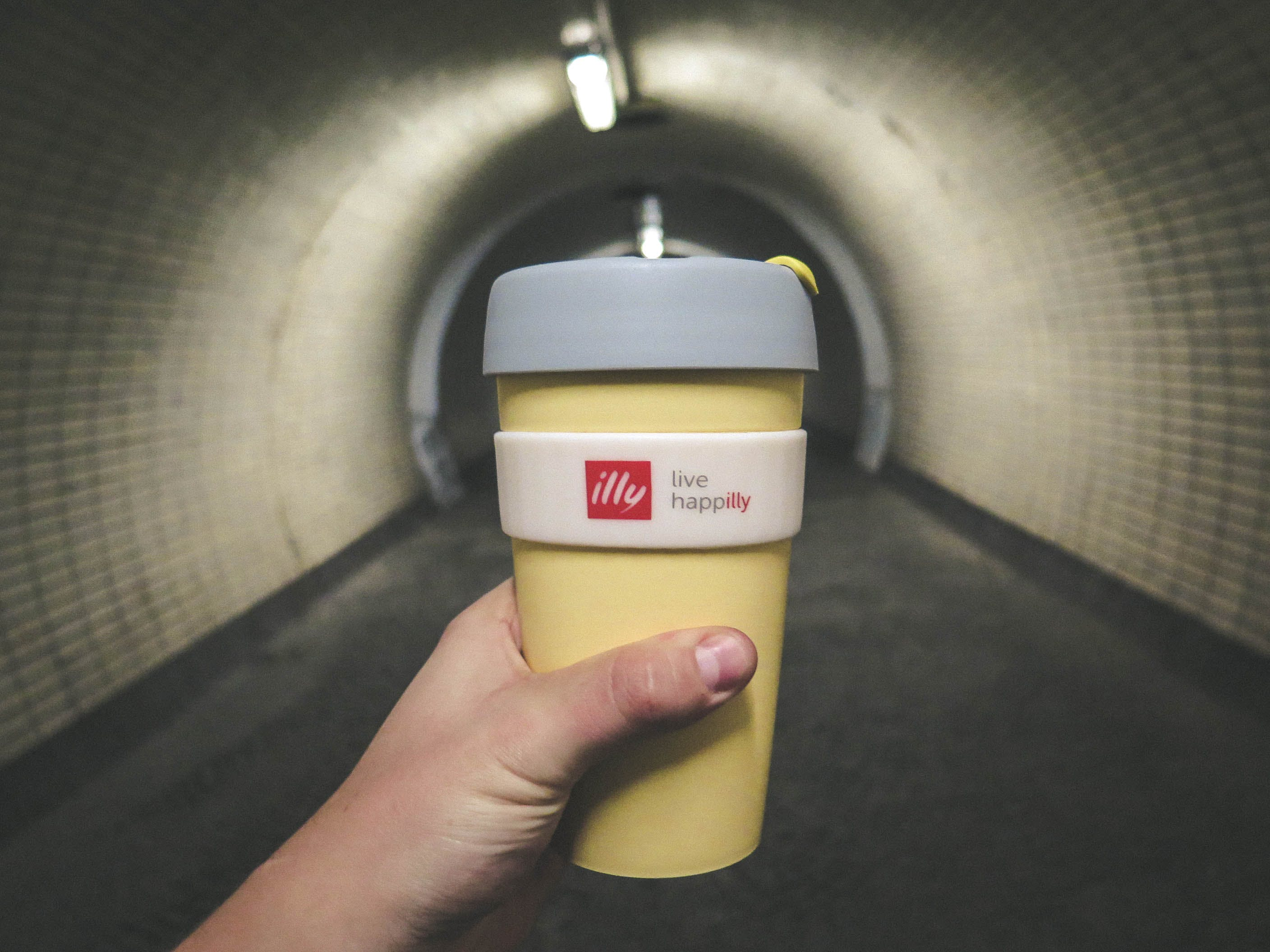 Yellow Grey Drinking Cup