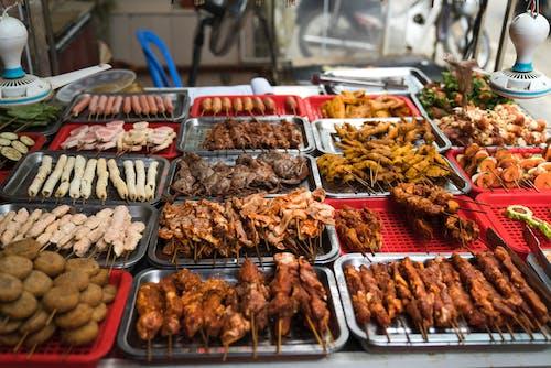 고기, 길거리 음식, 맛있는, 바비큐의 무료 스톡 사진