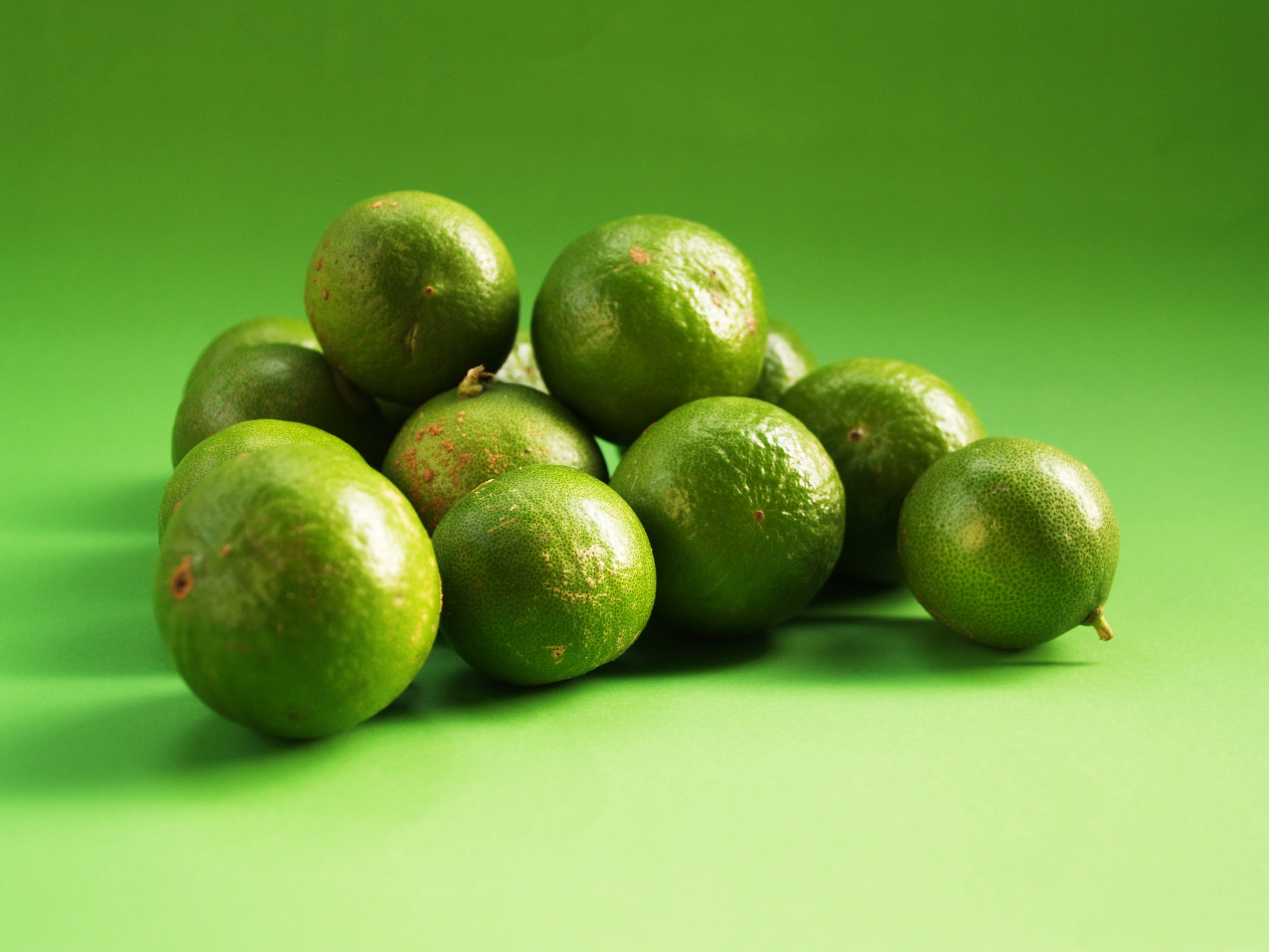 Pile of Green Lime Fruits