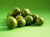 fruits, circle, green