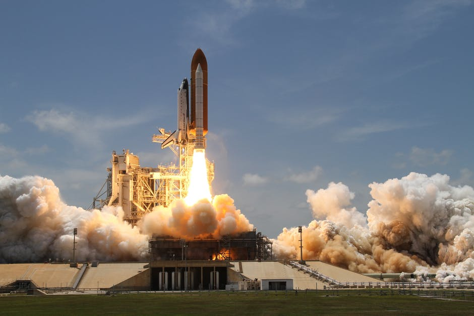 Time Lapse Photography of Taking-off Rocket