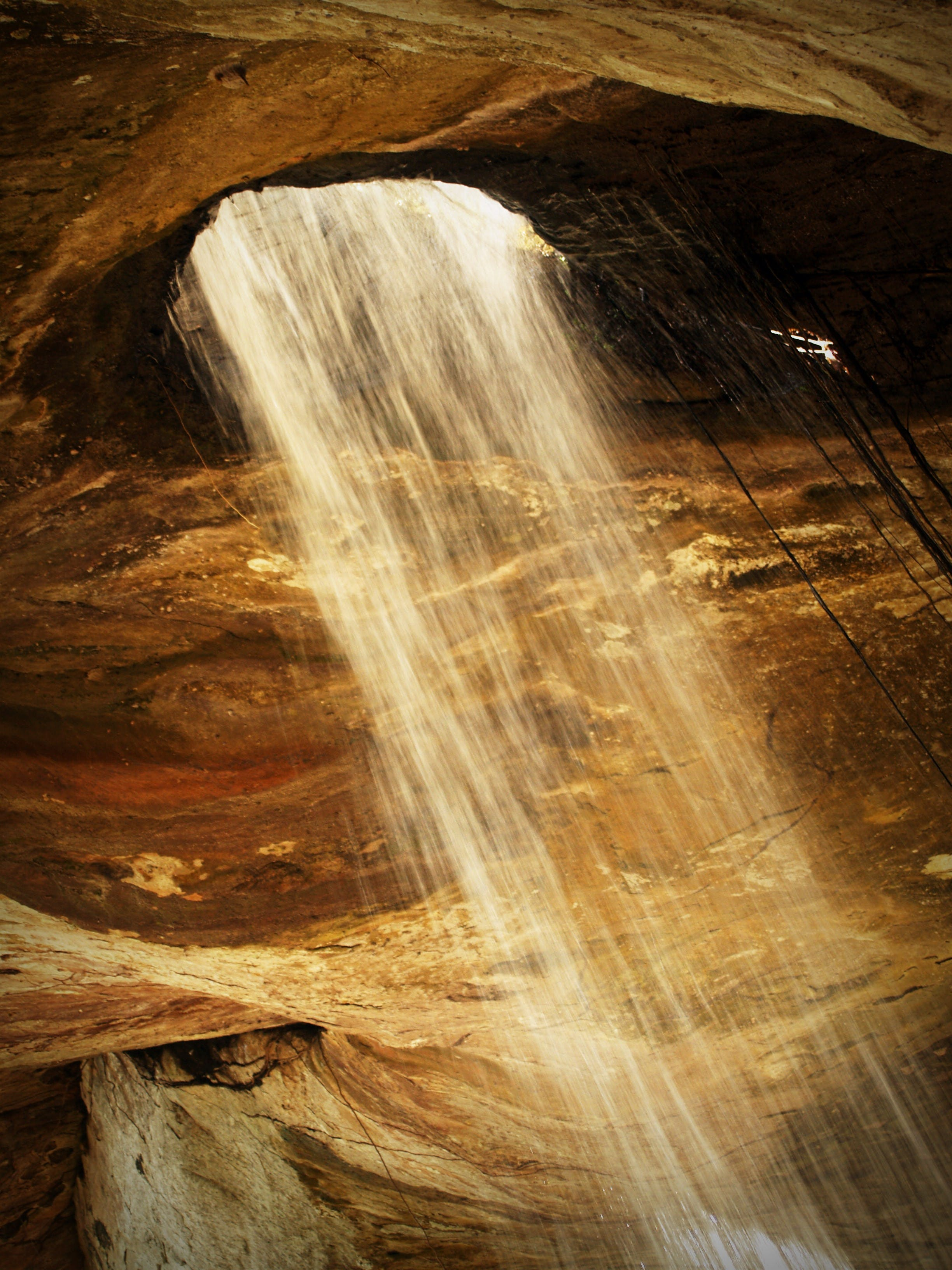 Water Falls Inside Cave