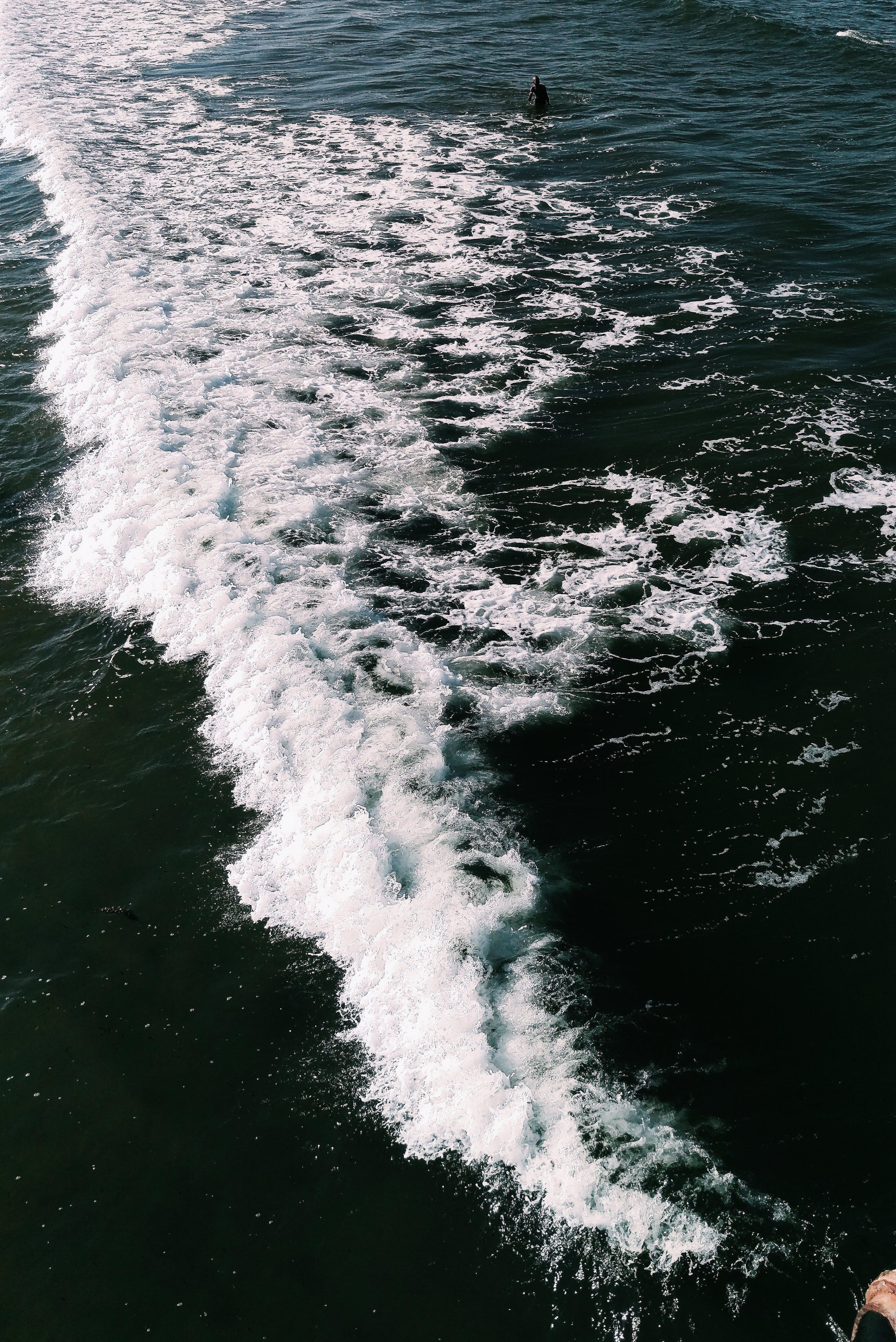 açık hava, dalga, dalgalar, deniz içeren Ücretsiz stok fotoğraf