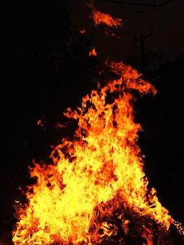 Free stock photo of night, dark, yellow, fire