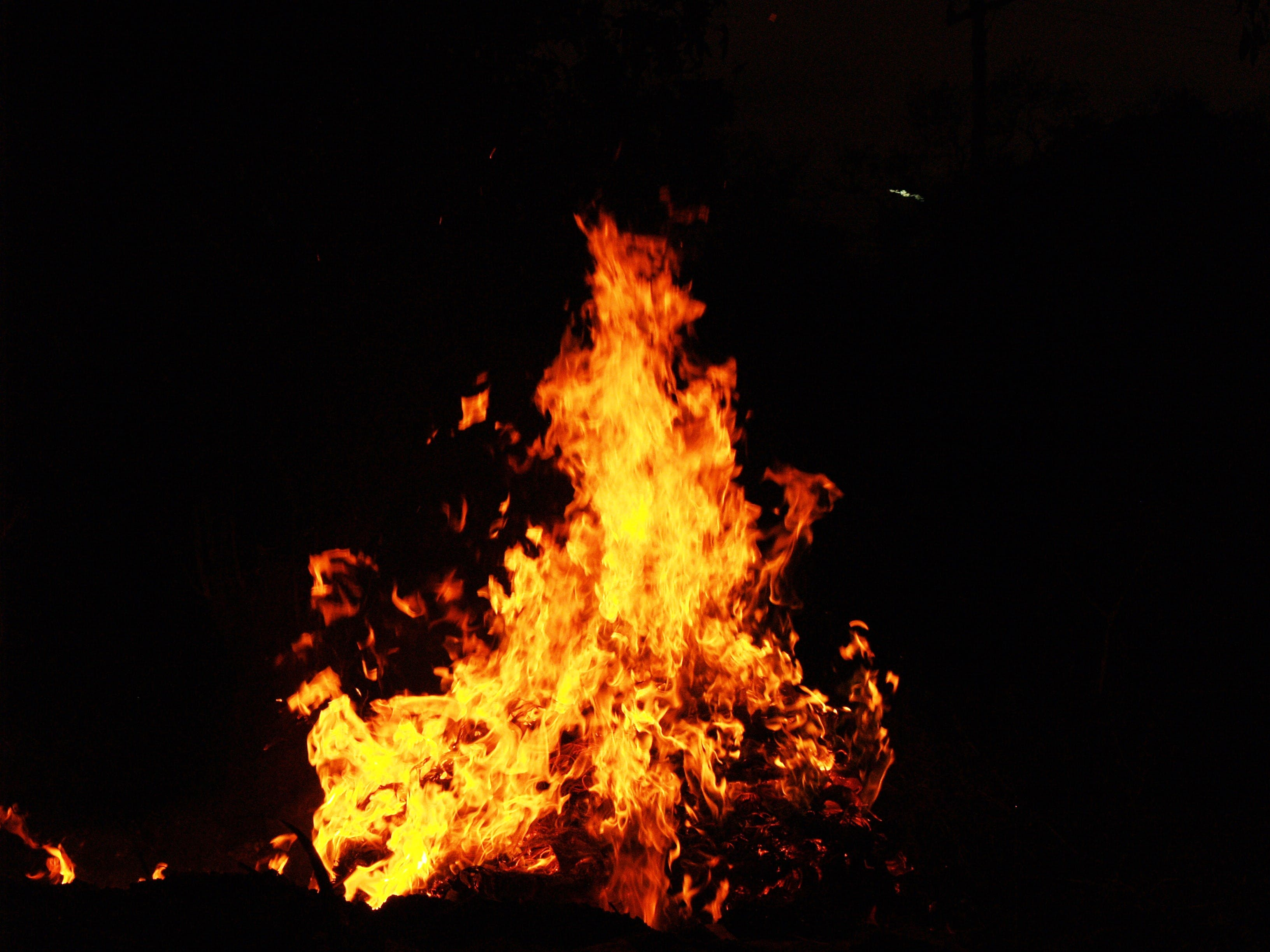 View of Fire during Night