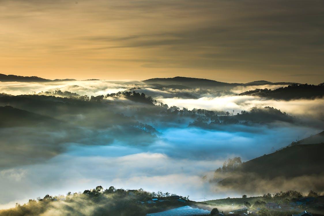 Smokey Covered Mountain