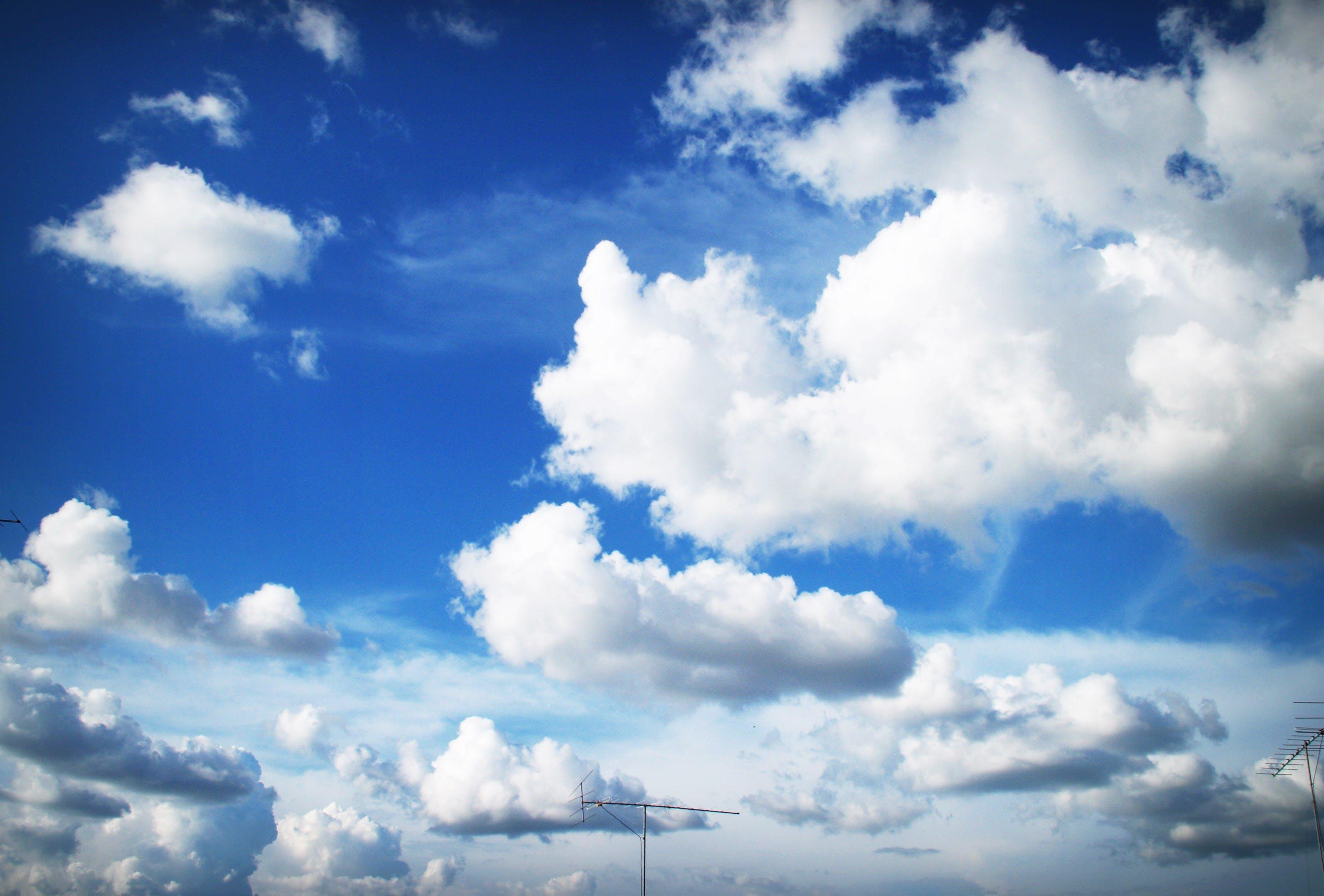 atmosphere, blue sky, clouds