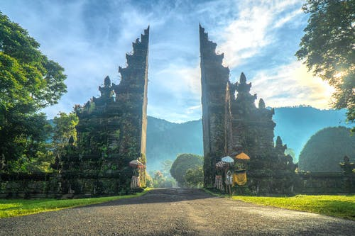 アジア建築, インドネシア, エントランス, ゲートの無料の写真素材