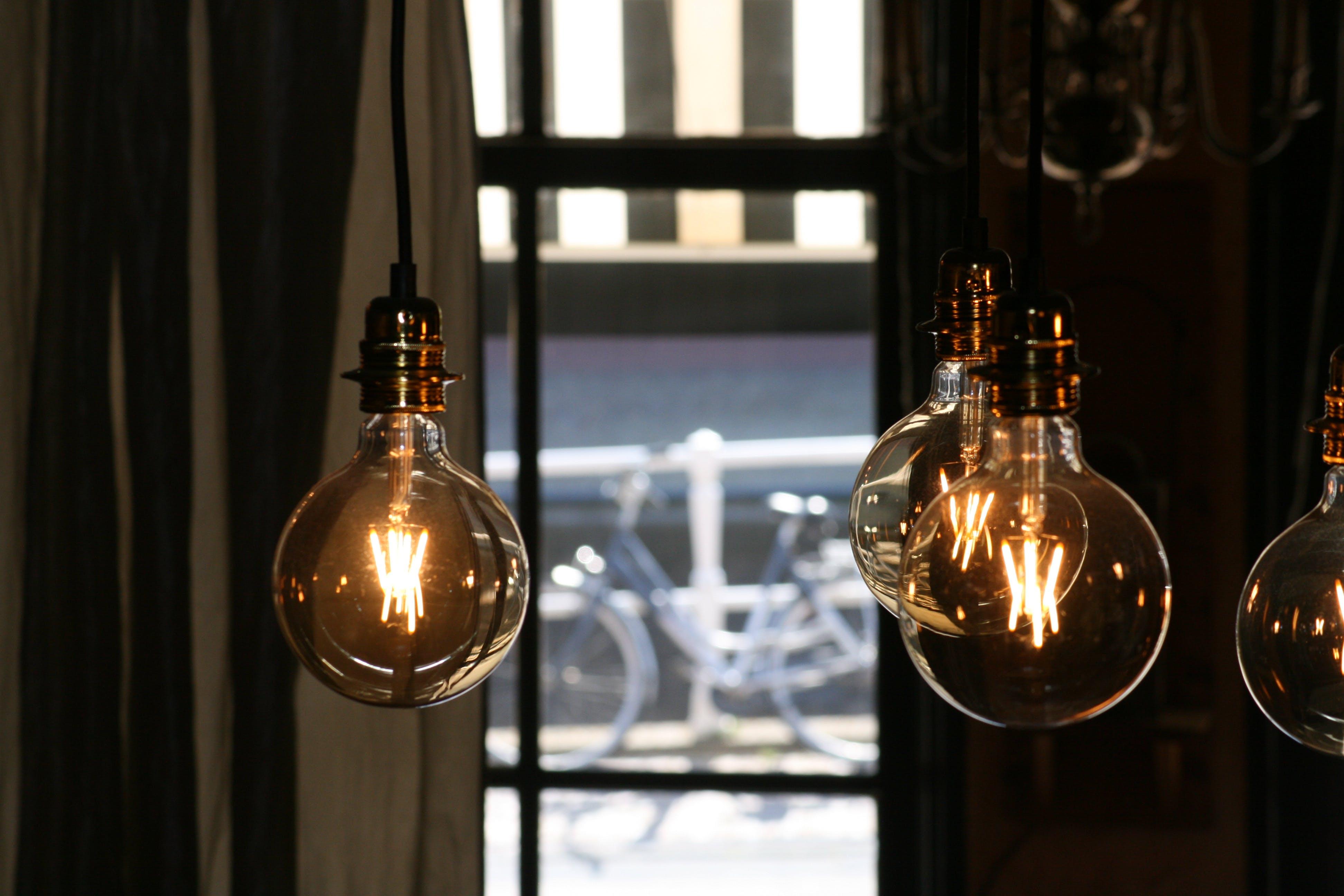 Lightbulbs Turned on