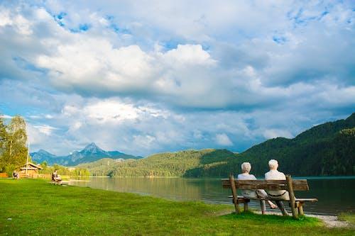 Free stock photo of elderly, lake, old age, peace