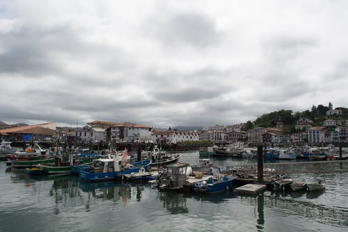 Free stock photo of fishing boats, village