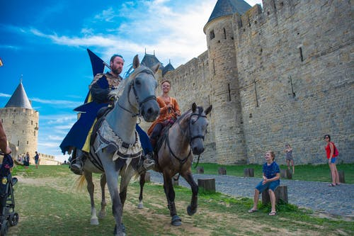 Free stock photo of castle, horse, knights, medieval