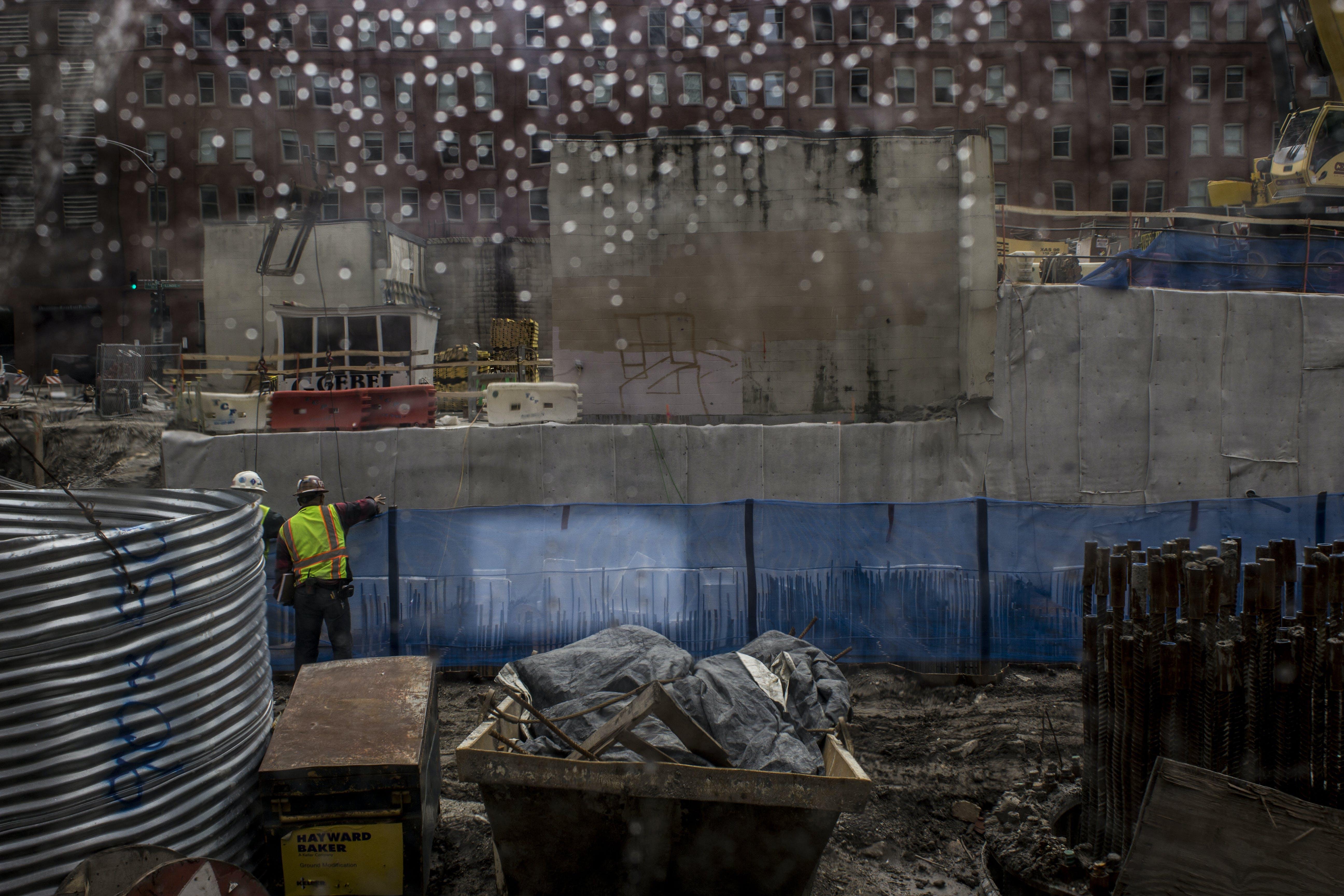 Free stock photo of city, construction, rain, under construction