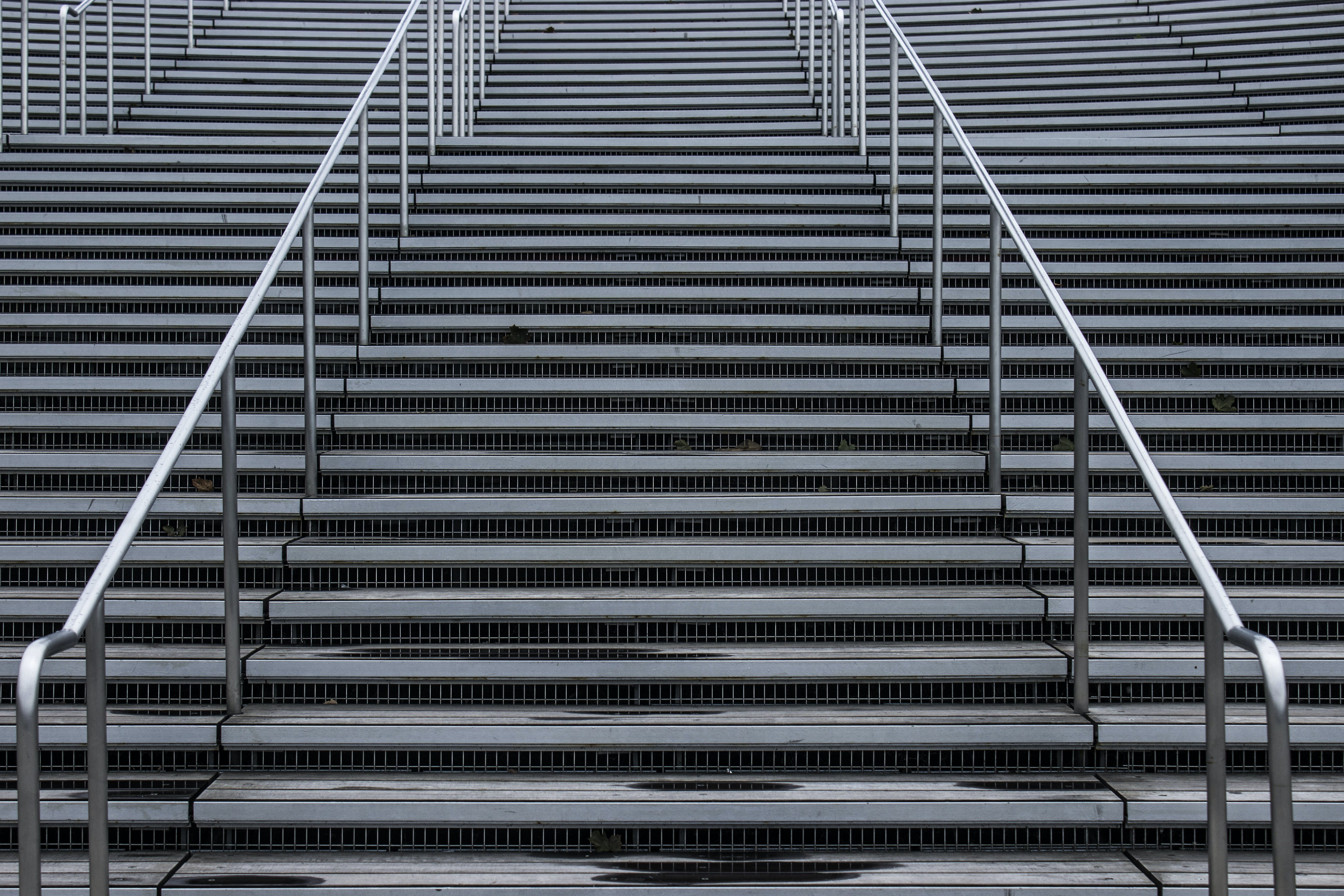 Free stock photo of grey, repetition, stairs, symetry