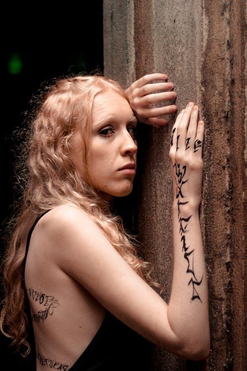 Free stock photo of arts, blonde, bodypaint, light glare