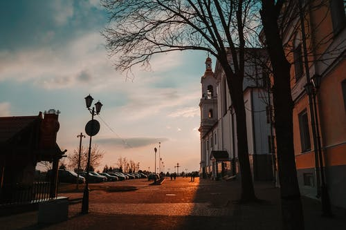 シルエット, タウン, ビテブスク, 乗り物の無料の写真素材