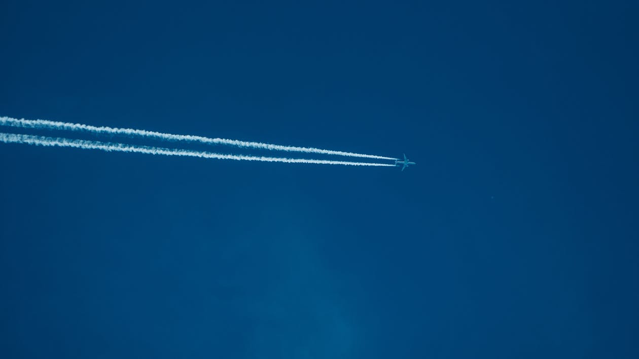 Low Angle Photography of Plane