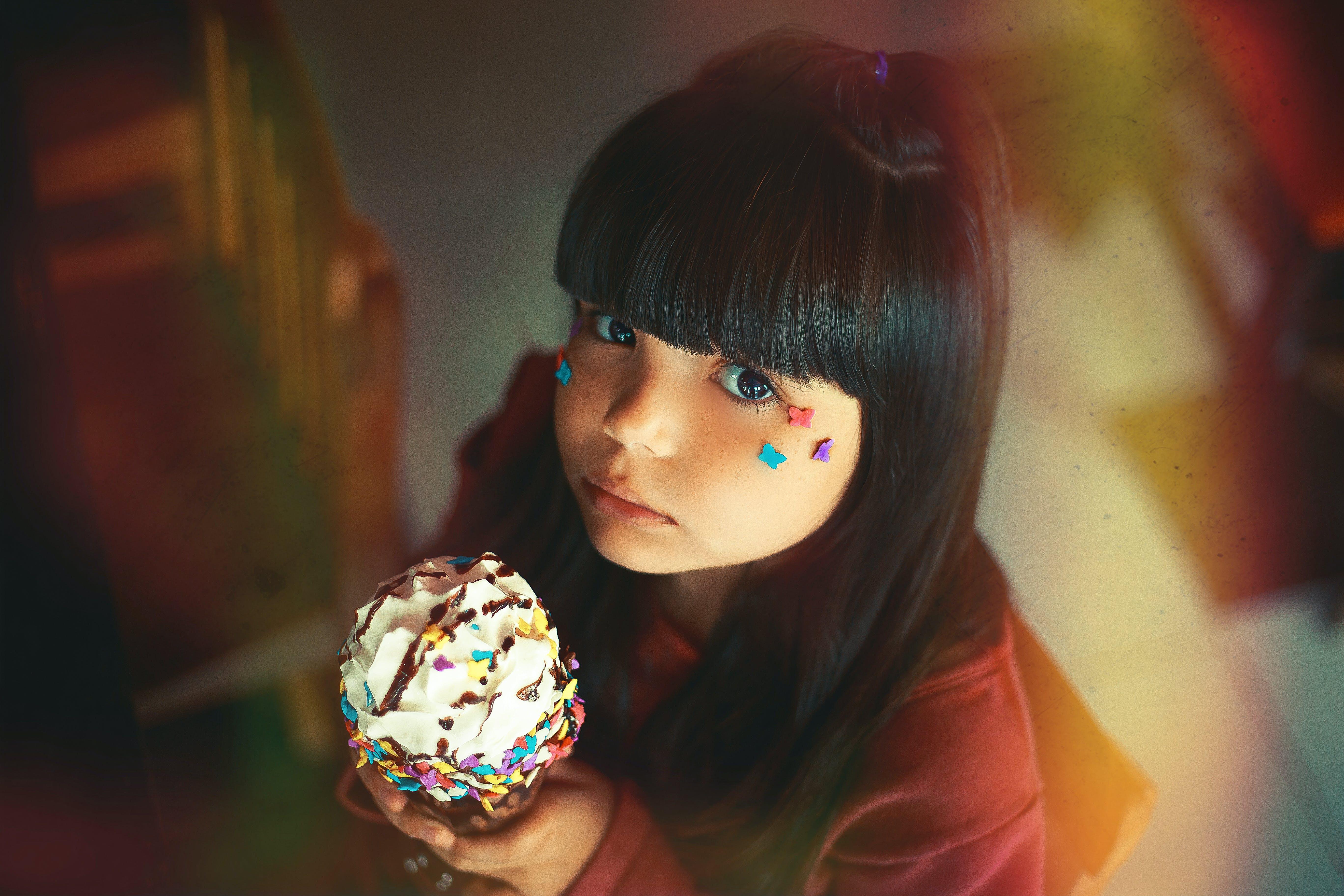 Girl Holding Ice Cream