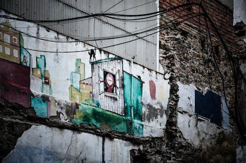 Základová fotografie zdarma na téma graffiti, moderní zřícenina, ruiny, starý